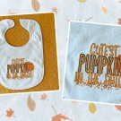 Cutest Pumpkin In the Patch Unisex Baby Bib