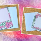 Pink Hibiscus Flowers Notecards with envelopes Set of 6