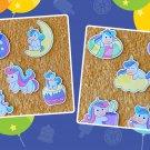 Rainbow Color Unicorn Stickers 10 piece Set