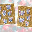 Mini Glitter Butterfly Stickers 14 piece Set