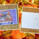 Halloween Ghost Truck Holiday Postcard
