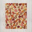 Autumn Fall Leaves Throw Blanket