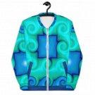 Blue Swirls Colored Unisex Bomber Jacket