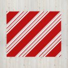 Candy Cane Stripes Christmas Throw Blanket