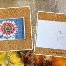 Autumn Beauty Sunflower Floral Postcard