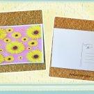 Medallion Bright Yellow Daisy Flowers Postcard