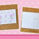 Flamingos and Palm Trees Postcard