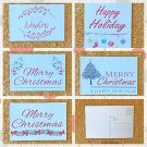 Assorted Watercolor Christmas Holiday Postcards Set of 5