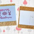 Buffalo Plaid Deer and Snowflakes Joyful Christmas Postcard
