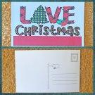 Buffalo Plaid Love Christmas Postcard