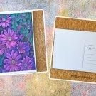 Purple Chrysanthemum Flowers Postcard