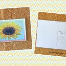 Yellow Watercolor Sunflower Postcard