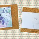 White Magnolia Tree Flower Printed Postcard