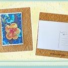 Tropical Orange Hibiscus Flower Printed Postcard