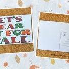 Let's Hear It For Fall Holiday Printed Greeting Postcard