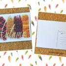 Autumn Fashion Word Art Fall Holiday Printed Greeting Postcard