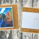 Autumn Season At The Lake Fall Holiday Printed Greeting Postcard
