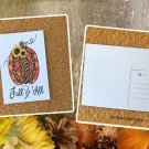 Autumn Pumpkin with Sunflower Fall Holiday Printed Greeting Postcard