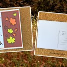 Fall Word Art with Maple Leaves Holiday Season Printed Greeting Postcard