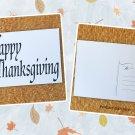 Happy Thanksgiving Word Art Holiday Season Printed Greeting Postcard