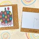 Hello Fall Floral Pumpkin Holiday Season Printed Greeting Postcard