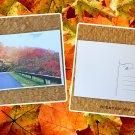 Autumn Country Road Trip Fall Season Printed Greeting Postcard
