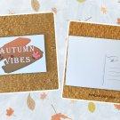 Autumn Vibes Fall Season Printed Greeting Postcard