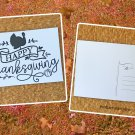 Happy Thanksgiving Banner with Turkey Holiday Season Printed Greeting Postcard