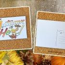 Autumn Is Here Fall Holiday Season Printed Greeting Postcard