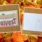 Autumn Harvest Fall Holiday Season Printed Greeting Postcard