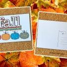 Fall Grunge Retro Distressed Pumpkins Holiday Season Printed Greeting Postcard