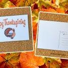 Happy Thanksgiving Turkey Holiday Season Printed Greeting Postcard