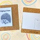 Hedgehog Hedge Hugs and Kisses Printed Message Postcard