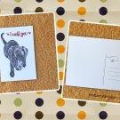 Black Labrador Puppy I Love You Printed Message Postcard