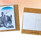 Sleeping French Bulldog Dreaming of You Printed Message Postcard