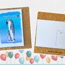 Emperor Penguins Happy Birthday Printed Message Postcard