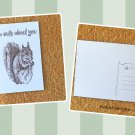 Brown Squirrel I'm Nuts About You Printed Message Postcard