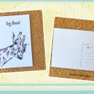 Funny Giraffe Hey There Printed Message Postcard