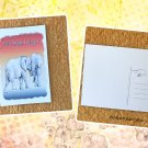 Elephants Never Forget I Love You Printed Message Postcard