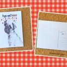 Dog Pugs and Kisses Printed Message Postcard
