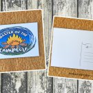 Master of the Campfire Printed Camping Postcard