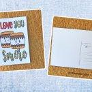 Love You Smore Printed Camping Postcard