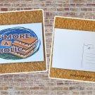 Smore A Holic Printed Camping Postcard