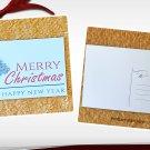 Merry Christmas and Happy New Year Holiday Season Printed Greeting Postcard