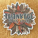 Thankful Vibes Only Thanksgiving Sunflower Holiday Sticker