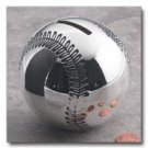 Sterlingcraft Silverplated Baseball Bank
