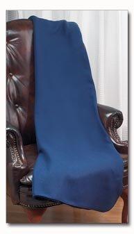 Maxam Navy Polyester Fleece Throw
