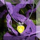 Crystal Prism Heart Mood Pendant Necklace Black Adjustable Choker Vivid Color Changing Chart
