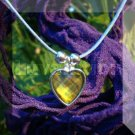 Crystal Prism Heart Mood Pendant Necklace Blue Adjustable Choker Color Vivid Changing Chart