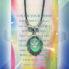 Angel Mood Pendant Oval UV Glow Necklace Choker Retro Chic Color Changing Chart